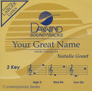 Your Great Name, Accompaniment CD   -              By: Natalie Grant