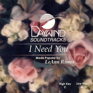 I Need You, Accompaniment CD    -     By: LeAnn Rimes