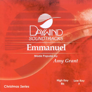 Emmanuel, Accompaniment CD   -     By: Amy Grant