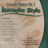 Favorite Hymns, Volume 3, Karaoke Style CD   -