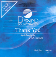 Thank You, Accompaniment CD   -     By: The Isaacs