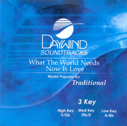 What The World Needs Now Is Love, Accompaniment CD   -