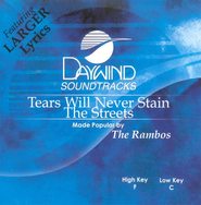 Tears Will Never Stain The Streets, Accompaniment CD   -     By: The Rambos