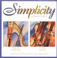 Simplicity Volumes 3 & 4: Harp & Woodwinds/String Quartet CD   -