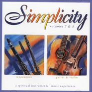 Simplicity Volumes 7 & 8: Woodwinds/Guitar & Violin CD   -
