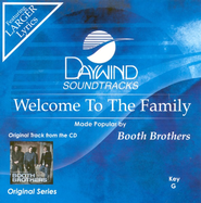 Welcome To The Family, Accompaniment CD   -              By: The Booth Brothers