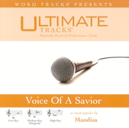 Voice Of A Savior - Medium Key Performance Track w/o Background Vocals  [Music Download] -     By: Mandisa