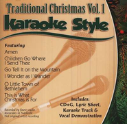 Traditional Christmas, Volume 1, Karaoke Style CD   -