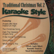 Traditional Christmas, Volume 2, Karaoke Style CD  - Slightly Imperfect  -