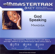 God Speaking (High Key-Premiere Performance Plus w/o Background Vocals)  [Music Download] -     By: Mandisa