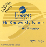 He Knows My Name, Accompaniment CD   -