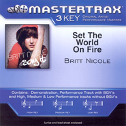 Set The World On Fire (Medium Key-Premiere Performance Plus w/o Background Vocals)  [Music Download] -     By: Britt Nicole