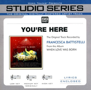 You're Here - Original Key with BGVs  [Music Download] -     By: Francesca Battistelli