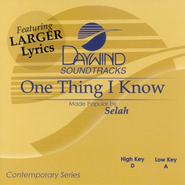 One Thing I Know, Accompaniment CD   -     By: Selah