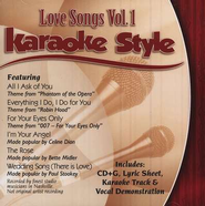 Love Songs, Volume 1, Karaoke Style CD   -