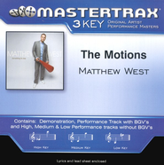 The Motions (Low Key-Premiere Performance Plus w/o Background Vocals)  [Music Download] -     By: Matthew West