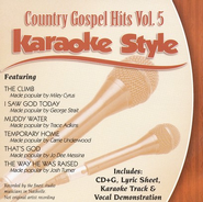 Country Gospel Hits, Volume 5, Karaoke Style CD   -     By: Various Artists