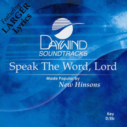 Speak The Word, Lord, Accompaniment CD   -     By: The Hinsons