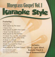 Bluegrass Gospel, Volume 1, Karaoke Style CD   -