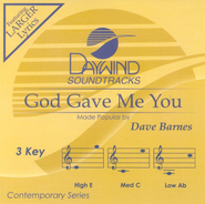 God Gave Me You, Accompaniment CD   -              By: Dave Barnes