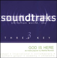 God Is Here, Accompaniment CD   -     By: Martha Munizzi