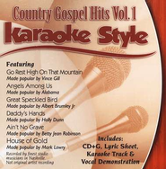 Country Gospel Hits, Volume 1, Karaoke Style CD   -