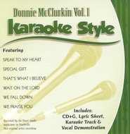 Donnie McClurkin, Volume 1, Karaoke Style CD   -