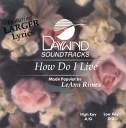 How Do I Live, Accompaniment CD   -     By: LeAnn Rimes