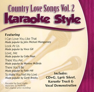 Country Love Songs, Volume 2 Karaoke CD  -