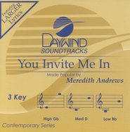 You Invite Me In, Accompaniment CD   -     By: Meredith Andrews