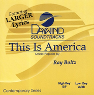 This Is America, Accompaniment CD   -     By: Ray Boltz