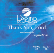 Thank You Lord, Accompaniment CD   -     By: The Inspirations
