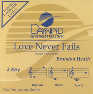 Love Never Fails, Accompaniment CD  -     By: Brandon Heath