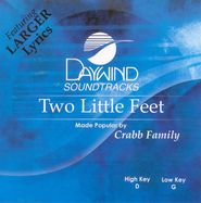 Two Little Feet, Accompaniment CD   -     By: The Crabb Family