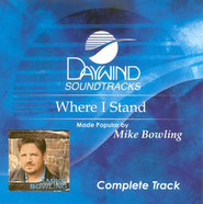 Where I Stand, Complete CD Tracks   -