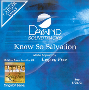 Know So Salvation, Accompaniment CD   -              By: Legacy Five