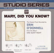 Mary, Did You Know? Accompaniment CD   -     By: Erin O'Donnell