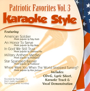 Patriotic Favorites, Volume 3, Karaoke Style CD   -     By: Various Artists
