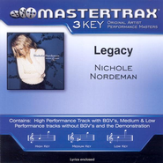 Legacy, Accompaniment CD   -              By: Nichole Nordeman