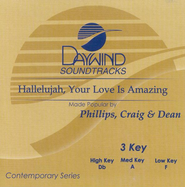 Hallelujah Your Love Is Amazing, Accompaniment CD   -     By: Phillips Craig & Dean