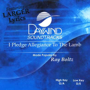 I Pledge Allegiance To The Lamb, Accompaniment CD   -     By: Ray Boltz