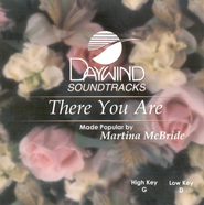 There You Are, Accompaniment CD   -              By: Martina McBride