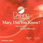 Mary, Did You Know? Accompaniment CD   -     By: Kathy Mattea