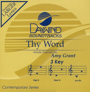 Thy Word, Accompaniment CD   -     By: Amy Grant