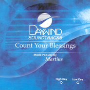 Count Your Blessings, Accompaniment CD   -     By: The Martins