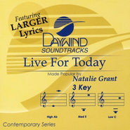 Live For Today, Accompaniment CD   -              By: Natalie Grant