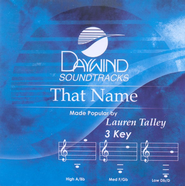 That Name, Accompaniment CD   -     By: Lauren Talley