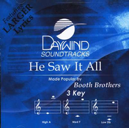 He Saw It All, Accompaniment CD   -     By: The Booth Brothers