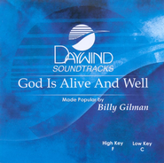 God Is Alive And Well, Accompaniment CD   -     By: Billy Gilman