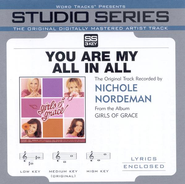 You Are My All In All, Accompaniment CD  - Slightly Imperfect  -     By: Nichole Nordeman